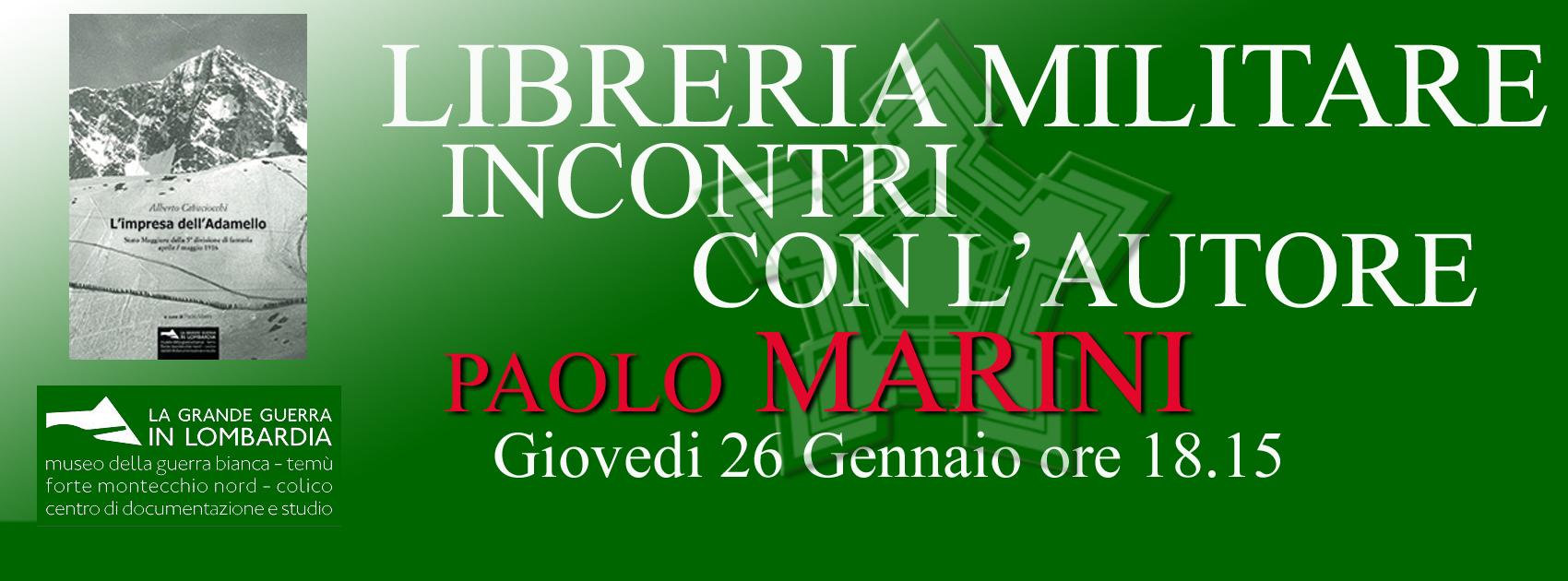 Libreria Militare Milano - INCONTRI Paolo Marini