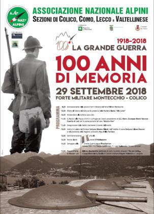 100 anni di memoria Colico 29 Settembre